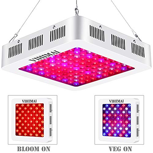 VIHIMAI 1500W LED Grow Light Full Spectrum, 3 Chips 4 Fans Daisy Chain Reflector-Series Growing Lamp with UV&IR for Indoor Plant HYD 2 Switches Control Veg and Flower (Reflector 1500W)