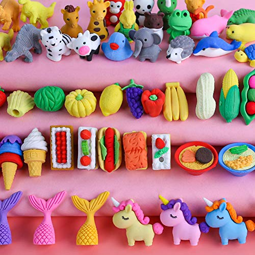 Lots of cool erasers!