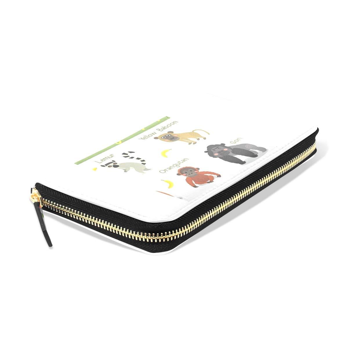 Womens Wallets Aminals Night Leather Passport Wallet Coin Purse Girls Handbags