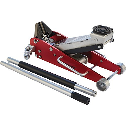 Strongway Hydraulic Aluminum/Steel Quick Lift Service Jack - 2 1/2-Ton Capacity, 3 15/16in.-18 1/8in. Lifting Range by Strongway (Image #6)
