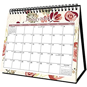 2020 Desk Calendar - Desk Calendar 2020 Stand Up 8'' x 6'' Desk Wall Calendar Can Be Used Throughout 2020 Small Monthly Pages Easel Calendar