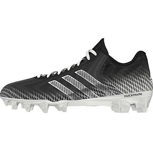 Adidas Performance Crazyquick Mid D FuÃ?ball Klampe, Schwarz / Metallic Silber / WeiÃ?, 12,5 M Us Black/Running White/Running White