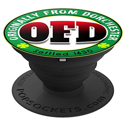 OFD Originally From Dorchester Born in the 617 Massachusetts PopSockets Grip and Stand for Phones and Tablets (Glass Dorchester)