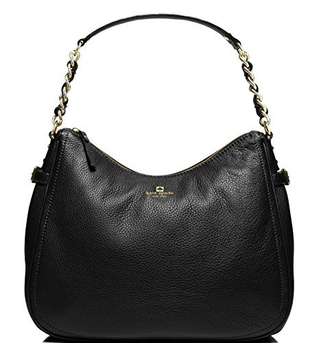 Kate Spade Pine Street Finley Leather Hobo Bag, Black by Kate Spade New York