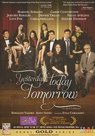 Yesterday Today Tomorrow-Philippines Filipino Tagalog DVD Movie