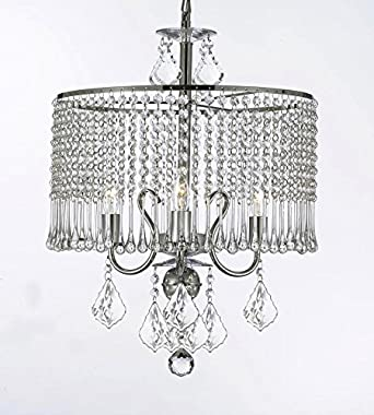 Contemporary 3-light Crystal Chandelier Chandeliers Lighting With Crystal Shade W 16 x H 21