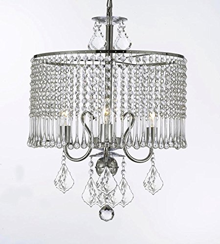 Contemporary 3-light Crystal Chandelier Chandeliers Lighting With Crystal Shade! W 16