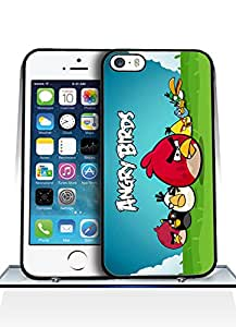Iphone 5s Funda Case - Game Dangry Birds Logo Drop Resistant Ultra Thin Exclusive Vintage Special Pattern Anti Scratch Plastic Funda Case For Iphone 5 / 5s