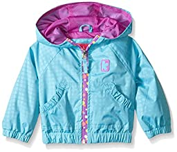 Pink Platinum Baby Girls\' Stamp Print Jacket with Printed Zip, Turquoise, 18 Months