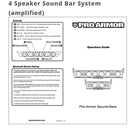 518LMwvTKuL._SX450_ amazon com pro armor 4 speaker bluetooth sound bar system automotive pro armor sound bar wiring diagram at cos-gaming.co