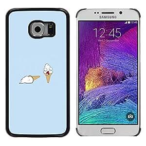 Caucho caso de Shell duro de la cubierta de accesorios de protección BY RAYDREAMMM - Samsung Galaxy S6 EDGE - Helado Asesinato divertido