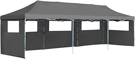 vidaXL Carpa Plegable Pop-up con 5 Paredes Laterales 3x9m Gris ...