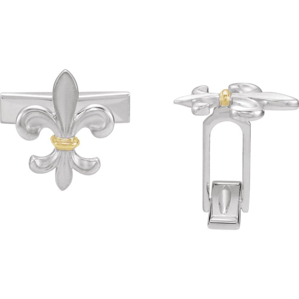 DiamondJewelryNY Sterling SilverFleur-de-lis Cuff Links-Pair