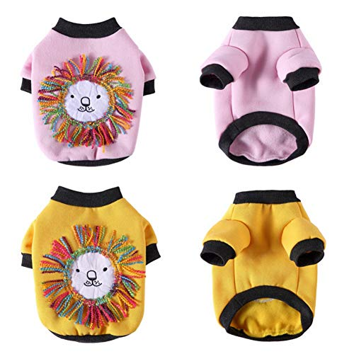 Balai Puppy Dog Cat Hoodie Sweatshirt Winter Pet Clothes for Small Dogs French Bulldog Pug Coat Jacket Dogs Pets…