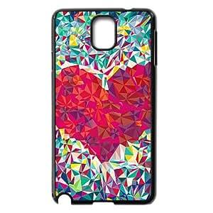 Vety Kaleidoscope Love Heart Samsung Galaxy Note 3 Cases, {Black}