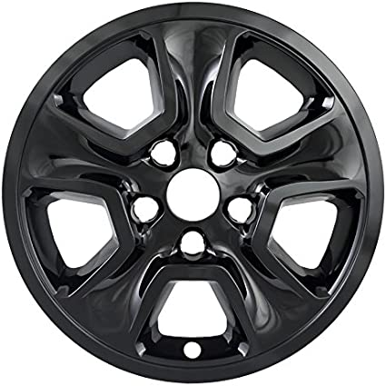 """Set of 4 Front and Rear Chrome 10 Vent 17/"""" Wheel Skins for 2014-19 Jeep Cherokee"""