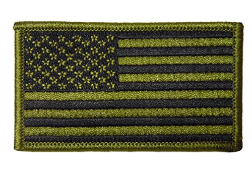 Blue Stone Safety PATCH-GRN-1 USA Flag Velcro Patch with Hook and Additional Velcro Loop for Easy Sew On Convenience, (Grn Hook)
