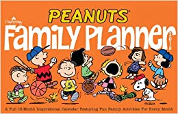 peanuts 2015 family planner wall calendar
