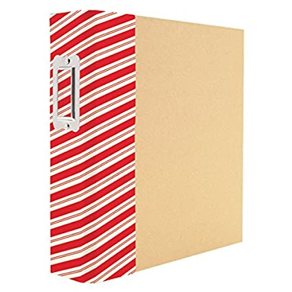 amazon com simple stories 4109 striped holiday snatp binder arts