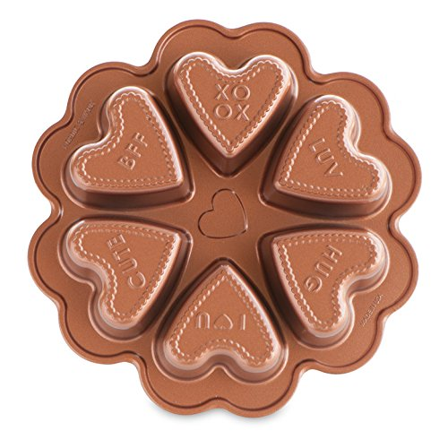Nordic Ware Seasonal Collection Conversational Heart Pan