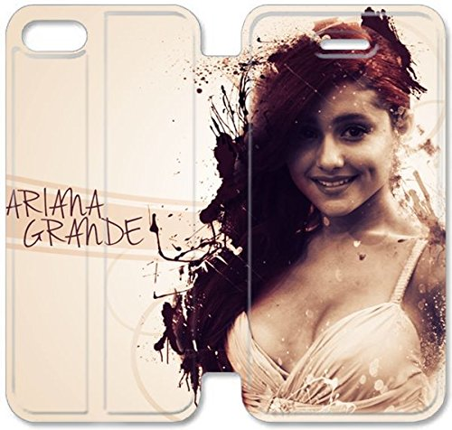 Coque iPhone 5 5S Coque Cuir, Klreng Walatina® PU Cuir de portefeuille de couverture Coque pour Coque iPhone 5 5S Design By Ariana grande_001