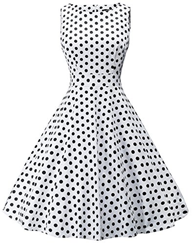 Women 1950s Vintage Polka Dot Rockabilly Prom Dresses