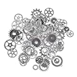 HATCHMATIC A Pack 100g Mix Alloy Mechanical Steampunk Cogs & Gears DIY Accessories New: Silver