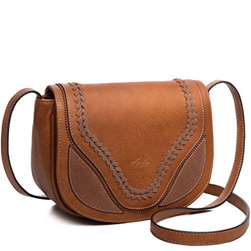 AMELIE GALANTI Women's Crossbody Bags Saddle Bag with Flap Top