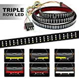 HYB LED Tailgate Light Bar Triple 60 Inches Truck Tailgate Strip Light with 4-Way Flat Connector Wire - Red Brake…