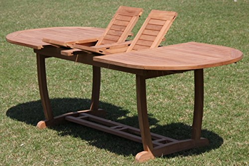 WholesaleTeakFurniture Grade-A Teak Wood Extra Large Double Extension 117