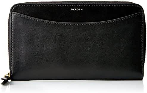 Skagen Compact Leather Zip Rfid Wallet - black Wallet