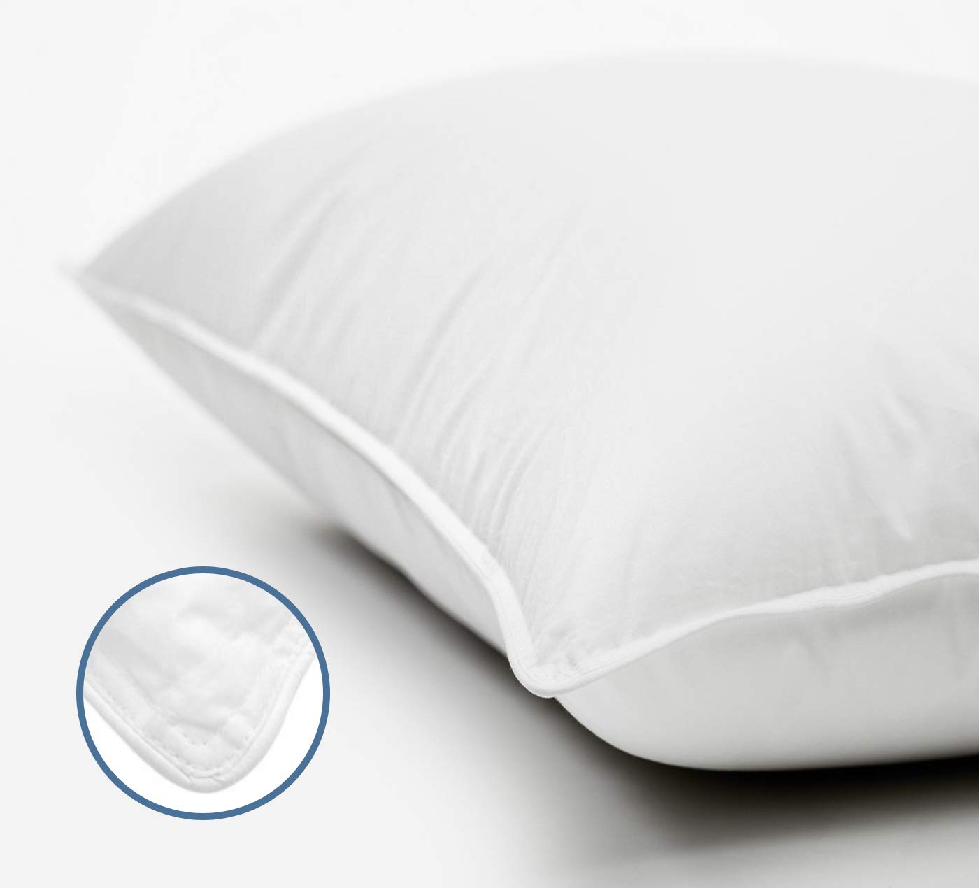 No Flattening! Retain in Shape Premium Plush Soft Cluster Fiber Filled Pillows, King Size, 2 Pack Dust Mite Resistant 100/% Cotton Shell