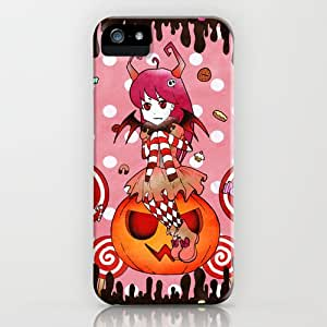 Pink Halloween GirlPatterned On Hard Plastic Protective Case Fit For Iphone 4/4s