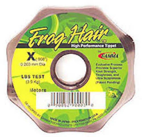 - Frog Hair Fresh Water Tippet 100 Meter Spool, 1X