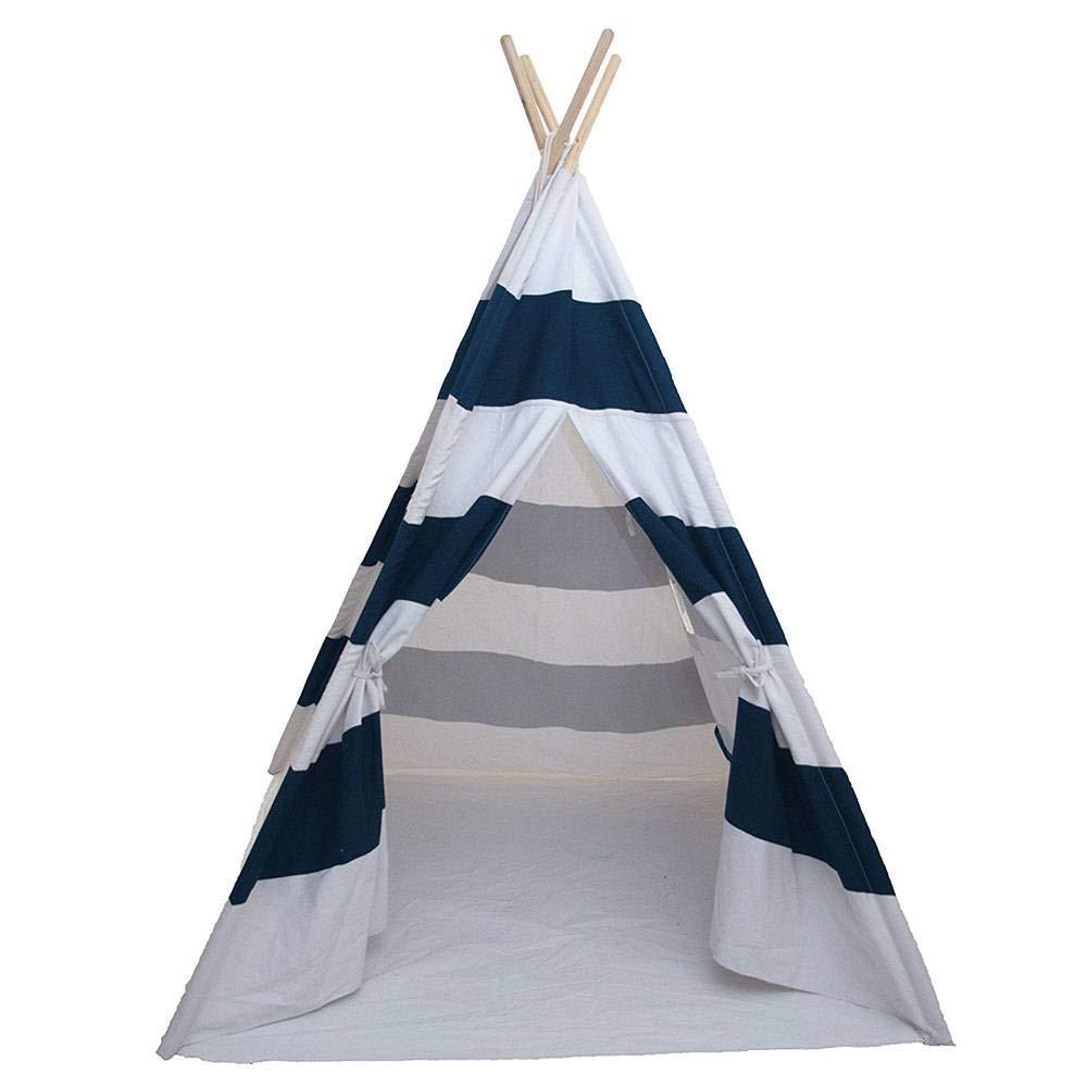HUASHENGXU Portable Blue Teepee Tent Kids Playhouse Sleeping Dome