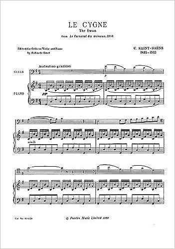 Camille Saint-Saens: Le Cygne (The Swan)  Sheet Music for Viola