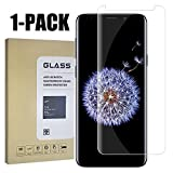 Samsung Galaxy S9 Screen Protector, [Easy to Install][HD - Clear][Case Friendly][Anti-Fingerprint] Premium Tempered Glass Screen Protector for Samsung Galaxy S9 … 1 Pack -01