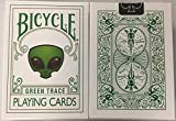 Bicycle Green Trace Playing Cards Alien Design