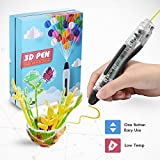 3D Printing Pen, Low Temperature Safe for Kids & Adults, Simple 1 Button Operation Easy Operated, Won't Clog, Holidy Extra Bonus DIY Gift (Lucency)