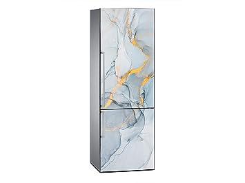 Kühlschrank Aufkleber : Amazon.de: oedim vinyl stickers blau und gold kühlschrank