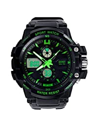 Changeshopping(TM) Multi Function Military S-Shock Sports Watch LED Analog Digital Waterproof Alarm (green)