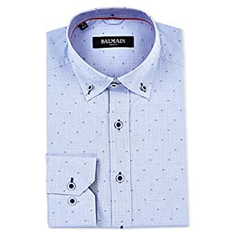 Balmain Semi Formal Shirt for Men - Blue