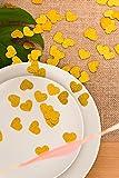 100pcs Gold Glitter Paper Confetti Gold Glitter Hearts For New Year Decor, Wedding, Party, Decor, DIY Table Decor