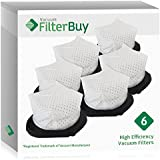 6 - FilterBuy Shark XF769 Dust Cup Replacement Filters, Part # XF769. Designed by FilterBuy to be Compatible with Shark SV769 Cordless Hand Vacuum Cleaners.