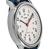 Timex Unisex T2N654 Weekender 38mm Blue/Gray Stripe