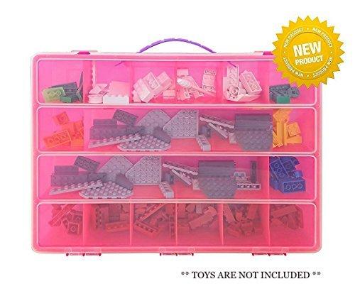 プリンセスストレージケースwith Carrying handle-私のプリンセスボックス携帯ケースHolds 100ののTiny Toys , Great for Storing Little Pieces (ピンク)   B01KVUPJBS