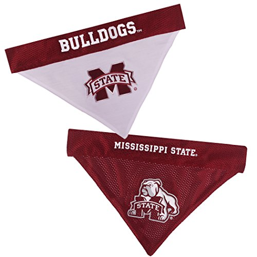 Pets First Collegiate Pet Accessories, Reversible Bandana, Mississippi State Bulldogs, Small/Medium]()