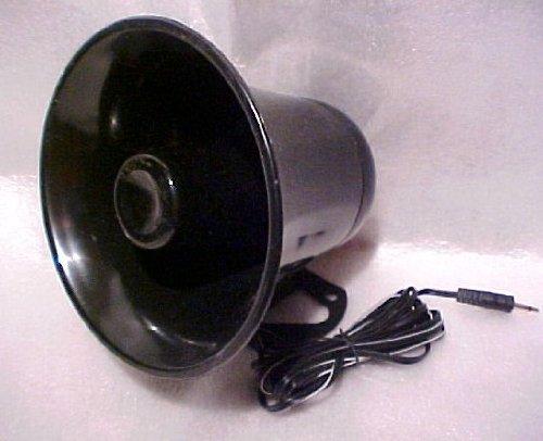 Horn Speaker 8 - PA Audio Speaker Weatherproof 12 Watt 8 Ohm (Horn Black)