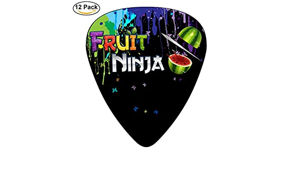 fruit-ninja-logo 12 unidades púas para guitarra celuloide ...