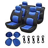 89 s10 blazer seats - ECCPP Universal Car Seat Cover w/Headrest - 100% Breathable Mesh Cloth Stretchy Durable for Most Cars Trucks Vans(Blue/Black)